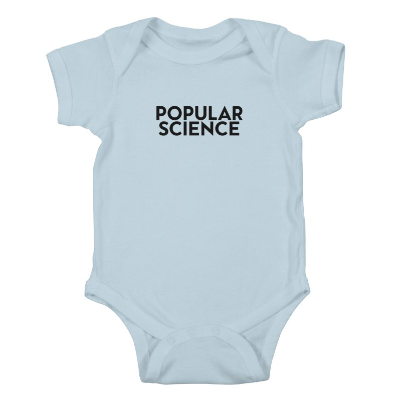 Popular Science Logo Tee - Black Kids Baby Bodysuit by Popular Science Shop
