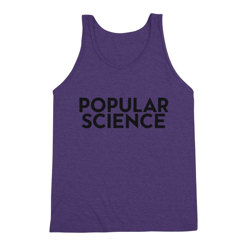 Popular Science Logo Tee - Black Men's Triblend Tank by Popular Science Shop