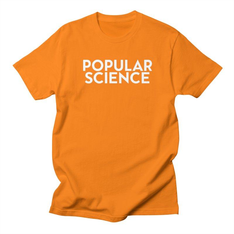 Popular Science Logo Tee - White Women's Regular Unisex T-Shirt by Popular Science Shop
