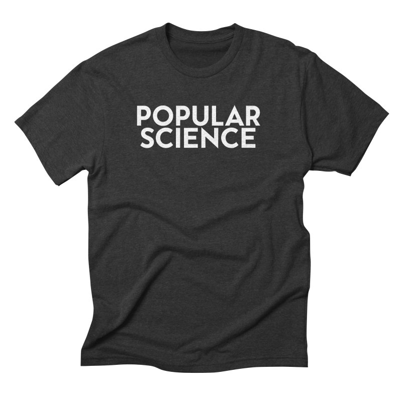 Popular Science Logo Tee - White Men's Triblend T-Shirt by Popular Science Shop