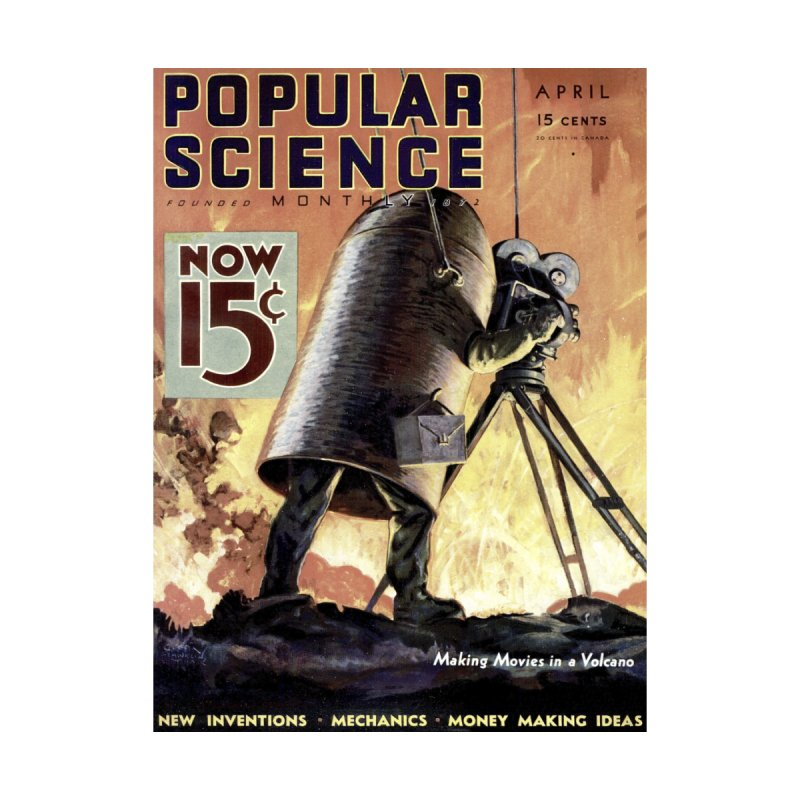 Popular Science Vintage Cover - April 1933 Men's T-Shirt by Popular Science Shop
