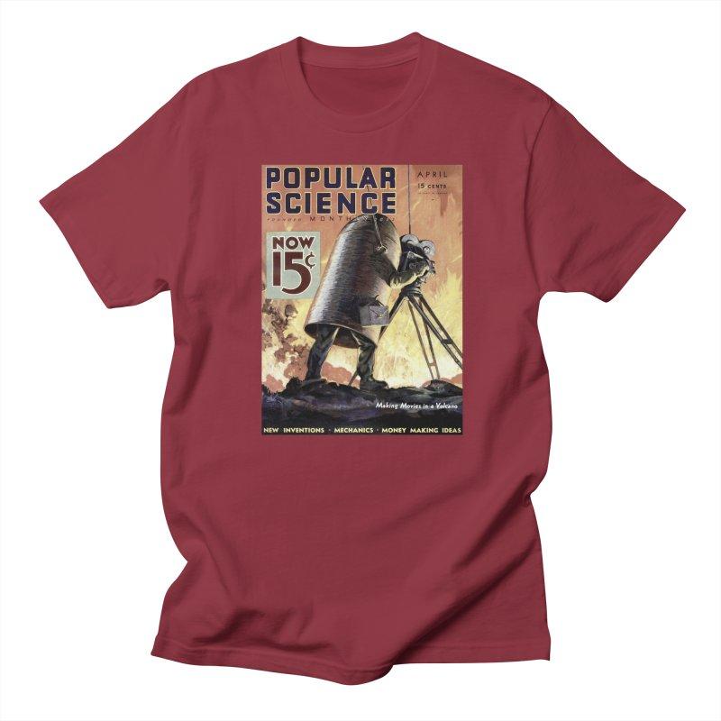 Popular Science Vintage Cover - April 1933 in Men's Regular T-Shirt Scarlet Red by Popular Science Shop