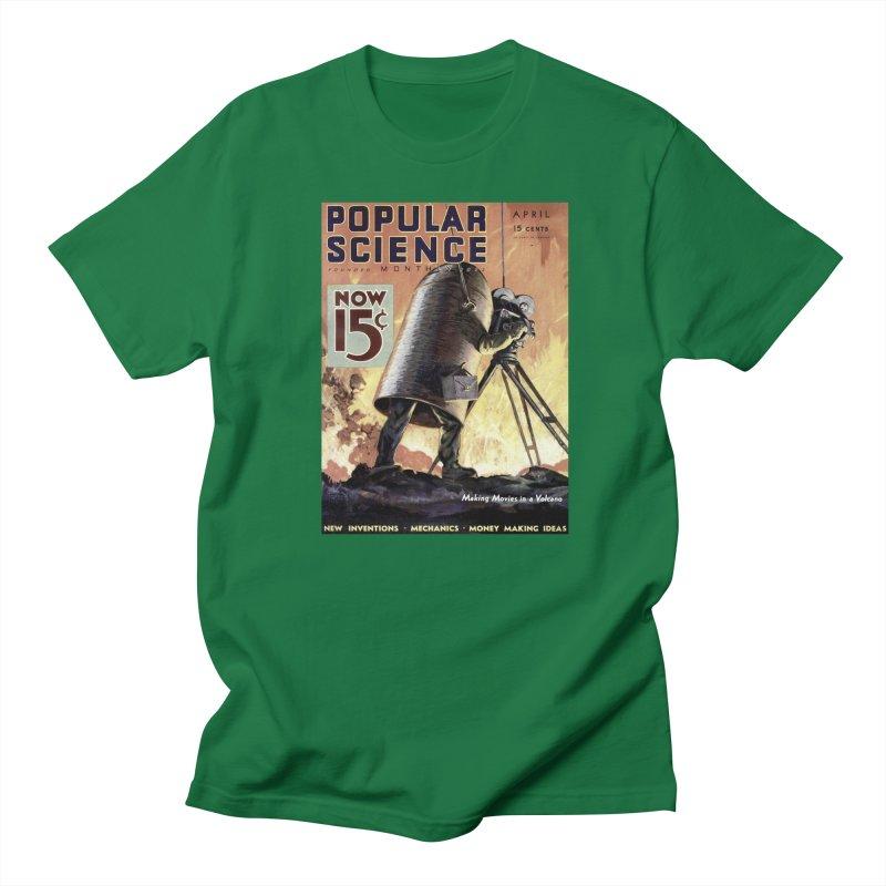 Popular Science Vintage Cover - April 1933 Men's Regular T-Shirt by Popular Science Shop
