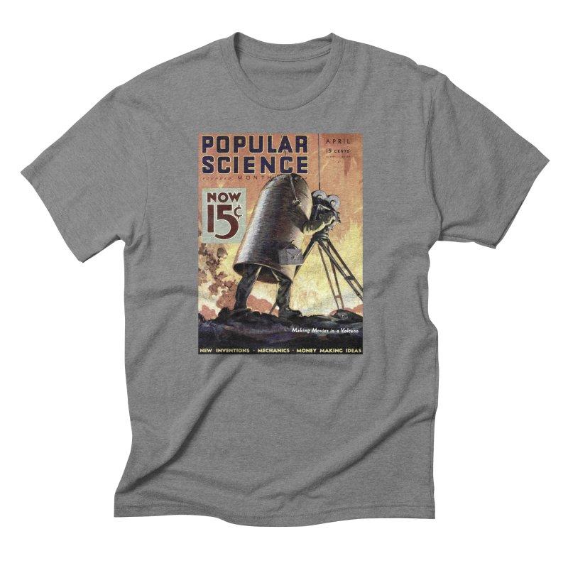 Popular Science Vintage Cover - April 1933 Men's Triblend T-Shirt by Popular Science Shop