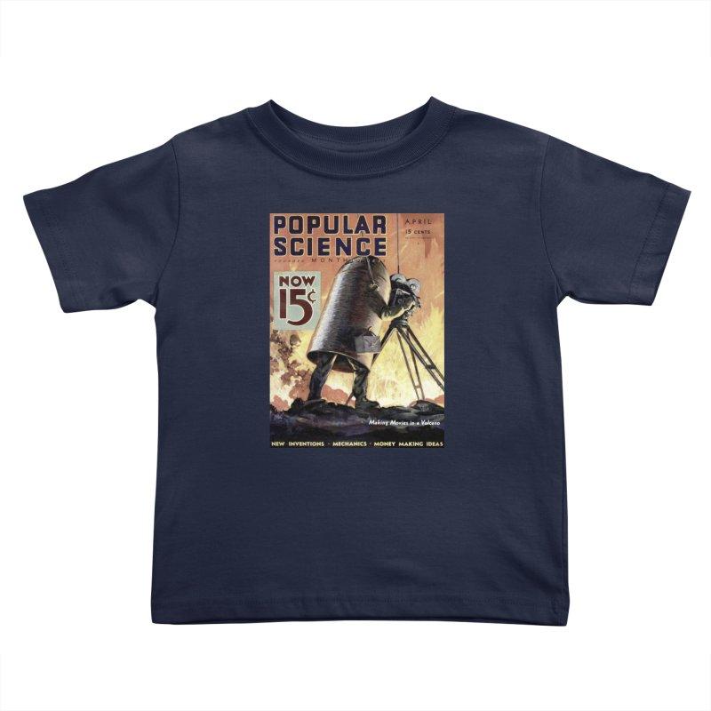Popular Science Vintage Cover - April 1933 Kids Toddler T-Shirt by Popular Science Shop