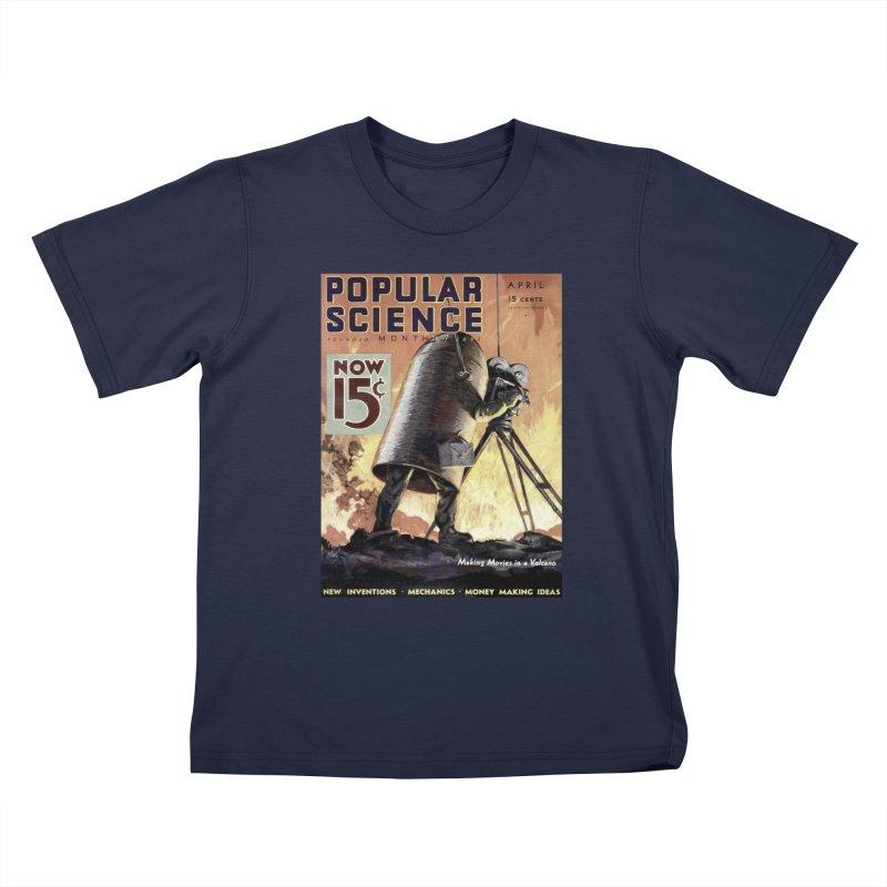 Popular Science Vintage Cover - April 1933 Kids T-Shirt by Popular Science Shop