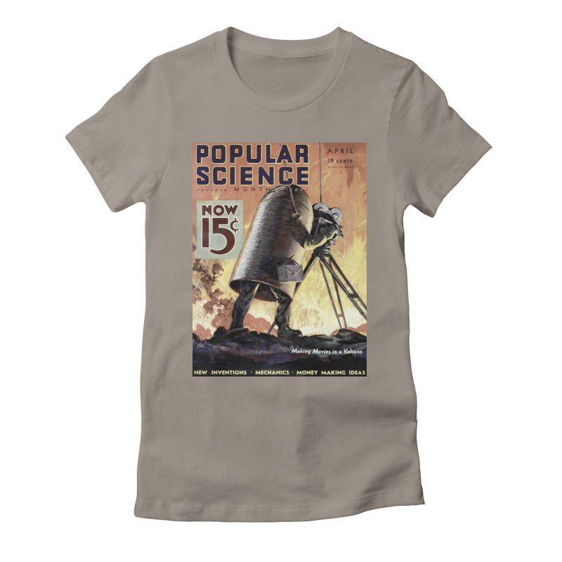 Popular Science Vintage Cover - April 1933 Women's Fitted T-Shirt by Popular Science Shop