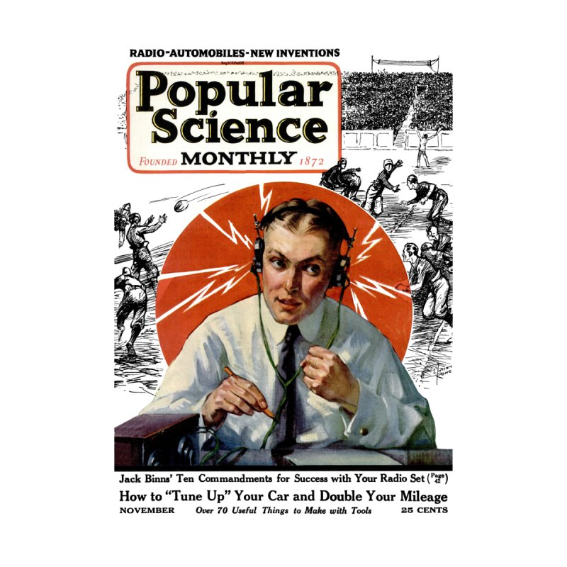 Popular Science Vintage Cover - November 1922 Men's T-Shirt by Popular Science Shop