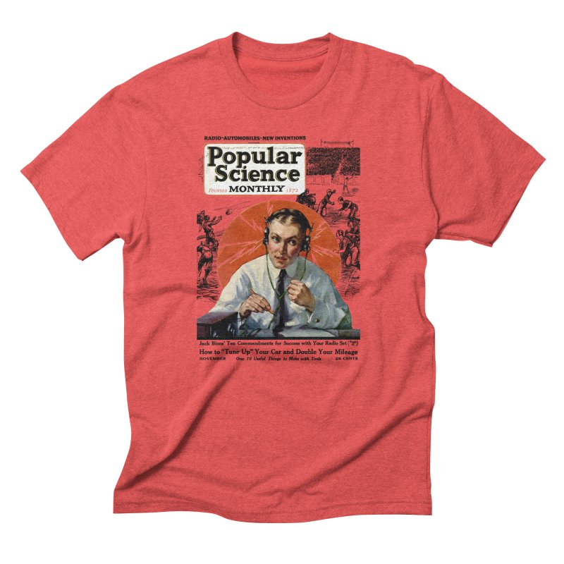 Popular Science Vintage Cover - November 1922 Men's Triblend T-Shirt by Popular Science Shop
