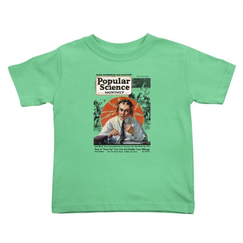 Popular Science Vintage Cover - November 1922 Kids Toddler T-Shirt by Popular Science Shop