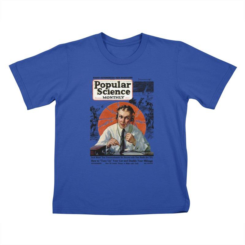 Popular Science Vintage Cover - November 1922 Kids T-Shirt by Popular Science Shop