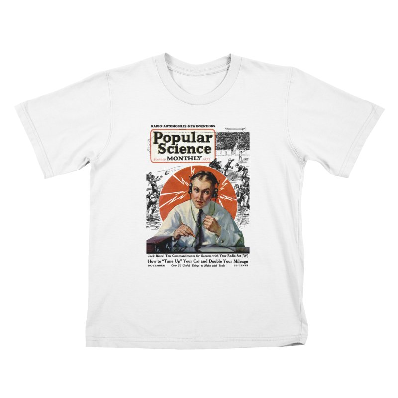Popular Science Vintage Cover - November 1922 Kids T-Shirt by Popular Science Shop