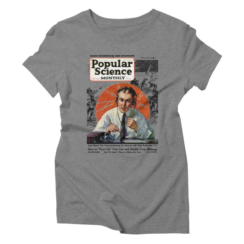 Popular Science Vintage Cover - November 1922 Women's Triblend T-Shirt by Popular Science Shop
