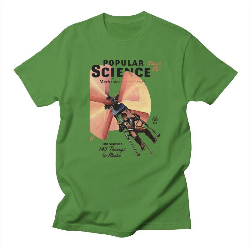 Popular Science Vintage Cover - April 1940 Women's Regular Unisex T-Shirt by Popular Science Shop
