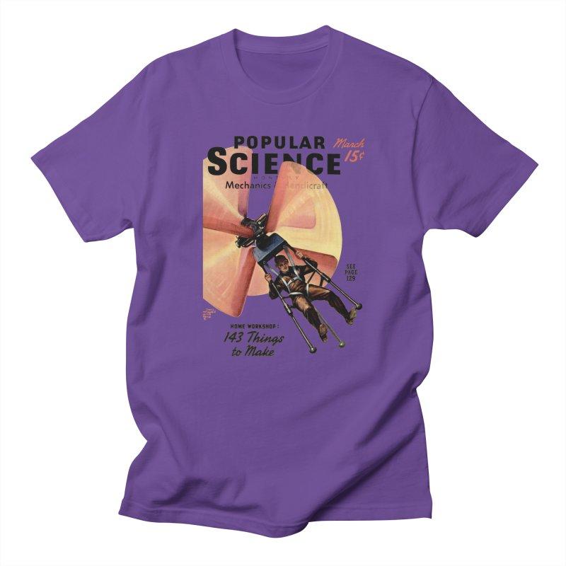 Popular Science Vintage Cover - April 1940 Men's Regular T-Shirt by Popular Science Shop