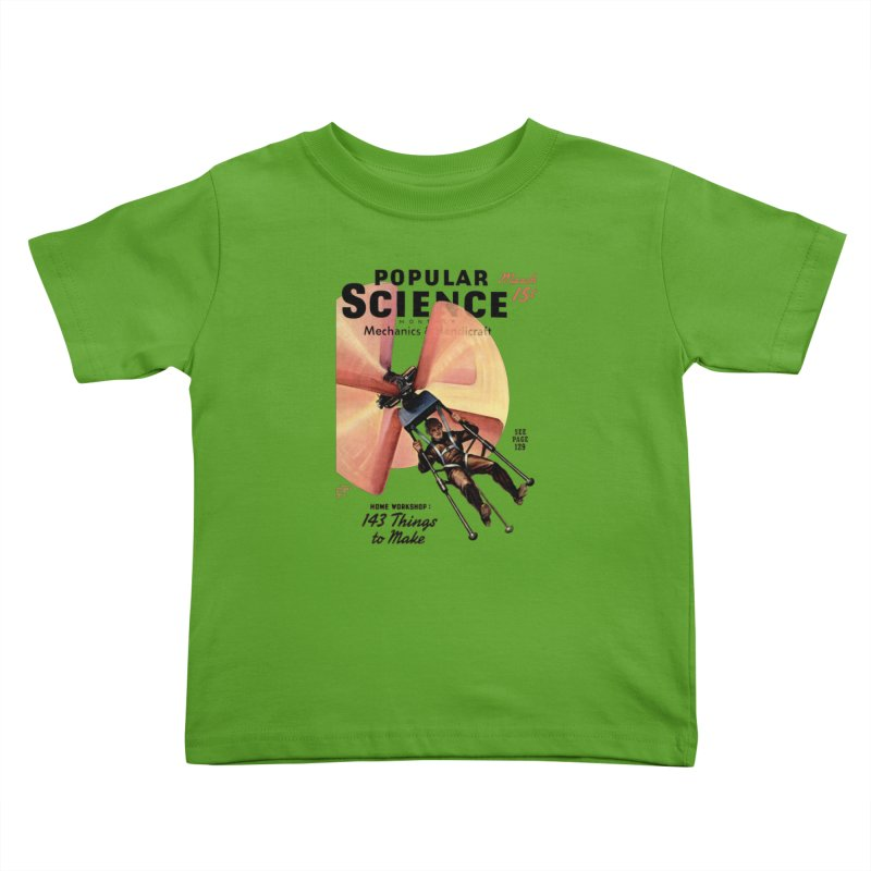 Popular Science Vintage Cover - April 1940 Kids Toddler T-Shirt by Popular Science Shop