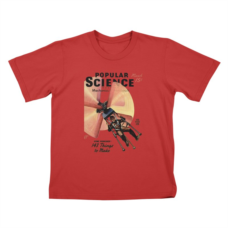Popular Science Vintage Cover - April 1940 Kids T-Shirt by Popular Science Shop