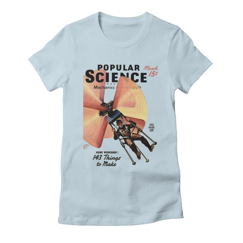 Popular Science Vintage Cover - April 1940 Women's Fitted T-Shirt by Popular Science Shop
