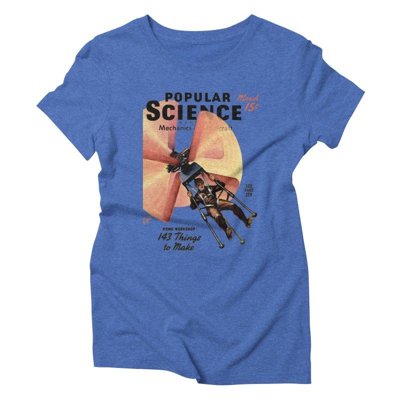 Popular Science Vintage Cover - April 1940 Women's Triblend T-Shirt by Popular Science Shop