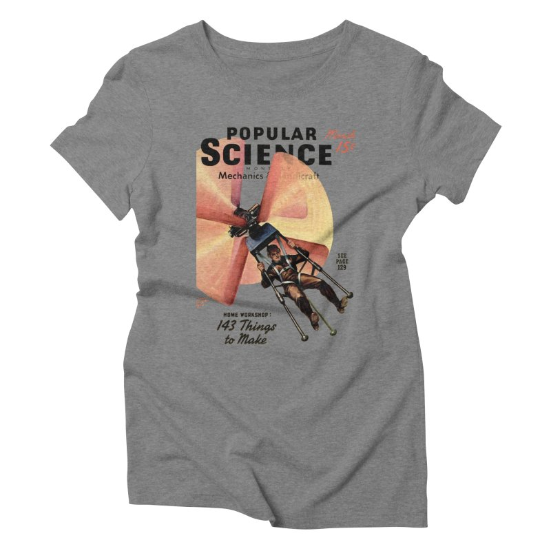 Popular Science Vintage Cover - April 1940 Women's Triblend T-Shirt by Popular Science Shop