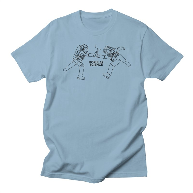 Cheers to Space! Popular Science Magazine Original Artwork in Men's Regular T-Shirt Light Blue by Popular Science Shop