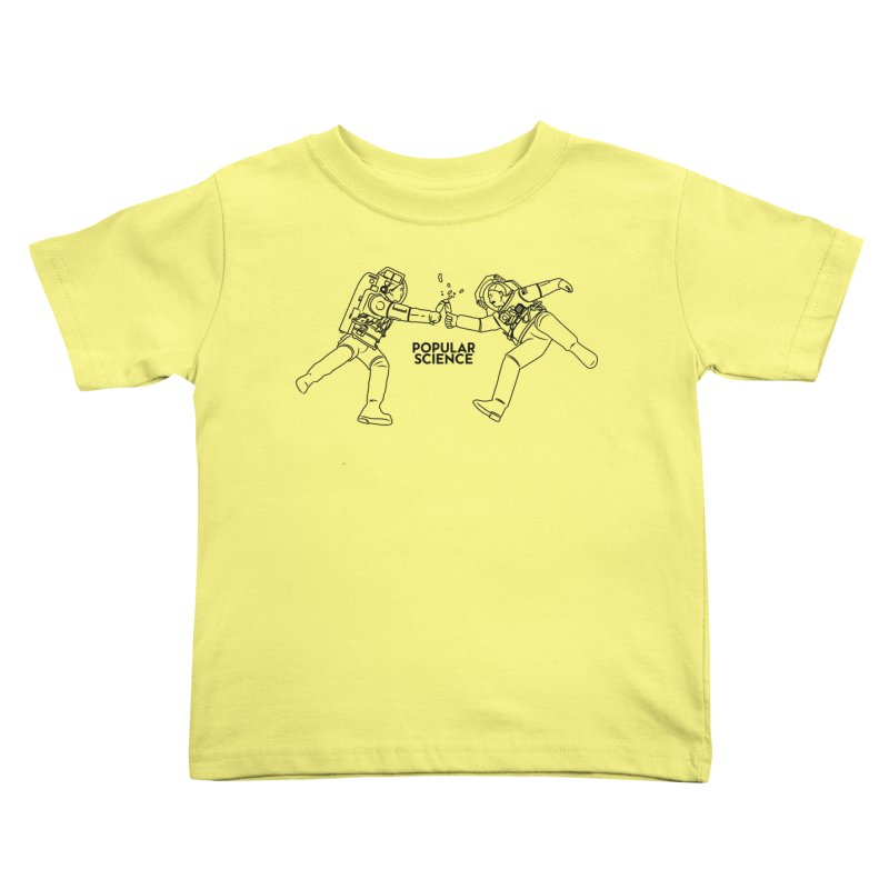 Cheers to Space! Popular Science Magazine Original Artwork Kids Toddler T-Shirt by Popular Science Shop