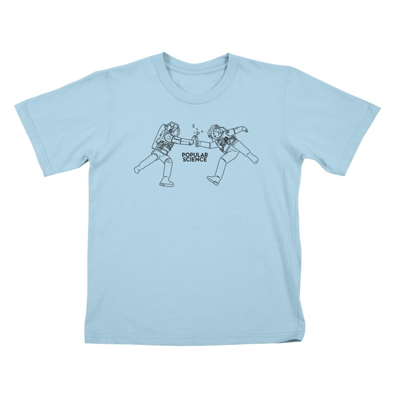 Cheers to Space! Popular Science Magazine Original Artwork Kids T-Shirt by Popular Science Shop