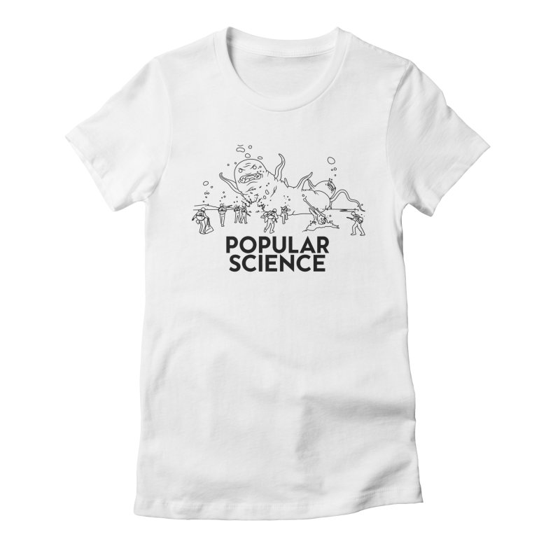 It's Alive! Original Popular Science Magazine Artwork Women's Fitted T-Shirt by Popular Science Shop