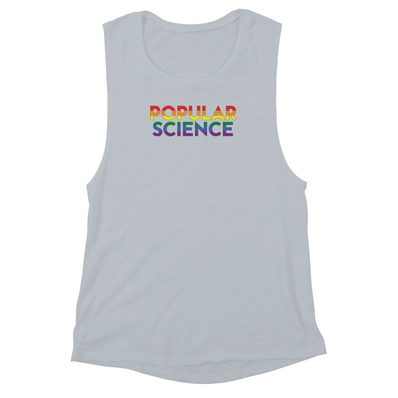 LIMITED EDITION: Popular Science Logo Tee - Pride Women's Muscle Tank by Popular Science Shop
