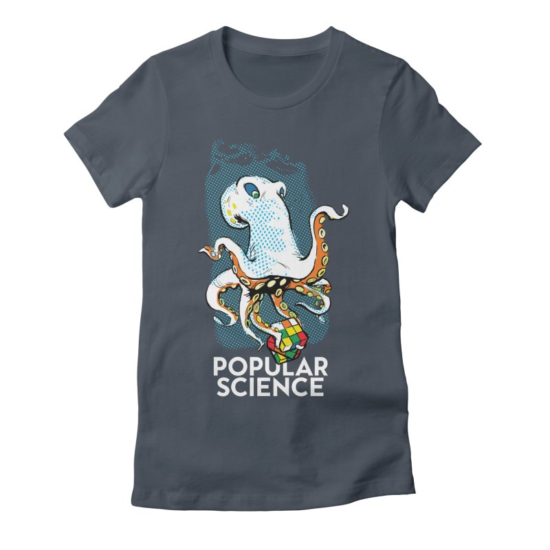Masterful Mollusk! Original Popular Science Magazine Artwork Women's Fitted T-Shirt by Popular Science Shop