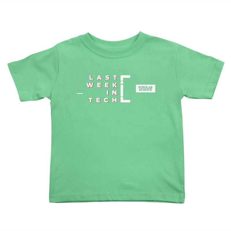 """Last Week In Tech"" Logo Tee Kids Toddler T-Shirt by Popular Science Shop"
