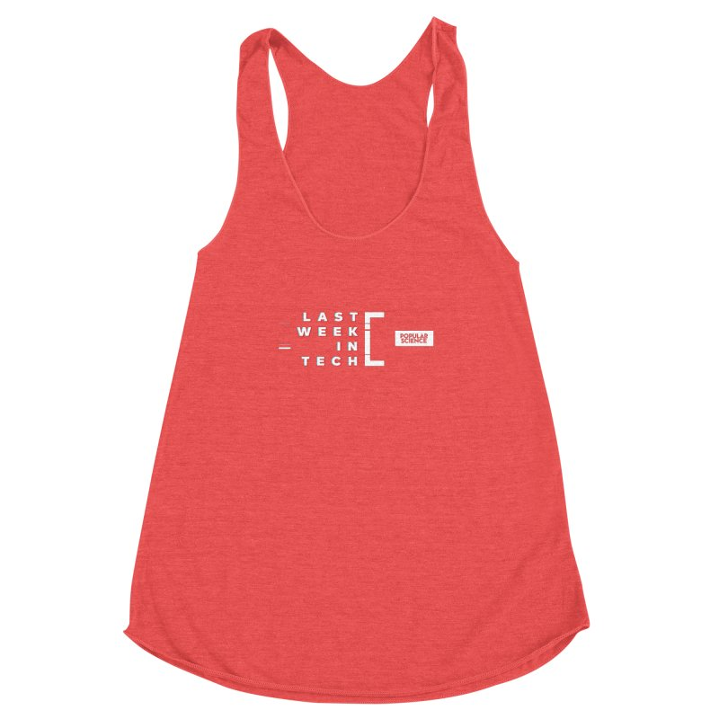 """""""Last Week In Tech"""" Logo Tee Women's Racerback Triblend Tank by Popular Science Shop"""