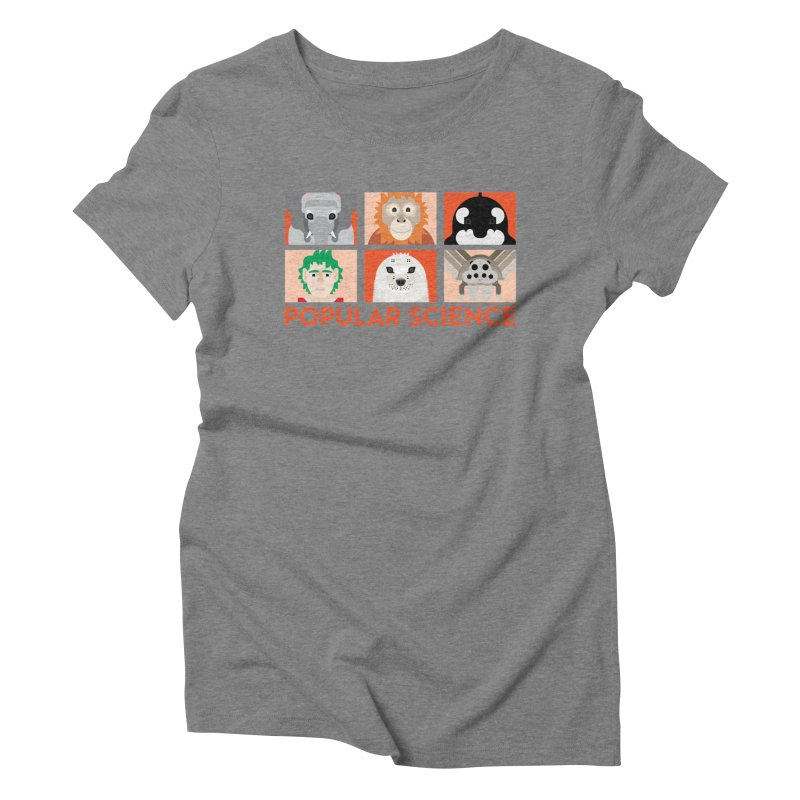 Kids Today! Popular Science Magazine Artwork in Women's Triblend T-Shirt Grey Triblend by Popular Science Shop