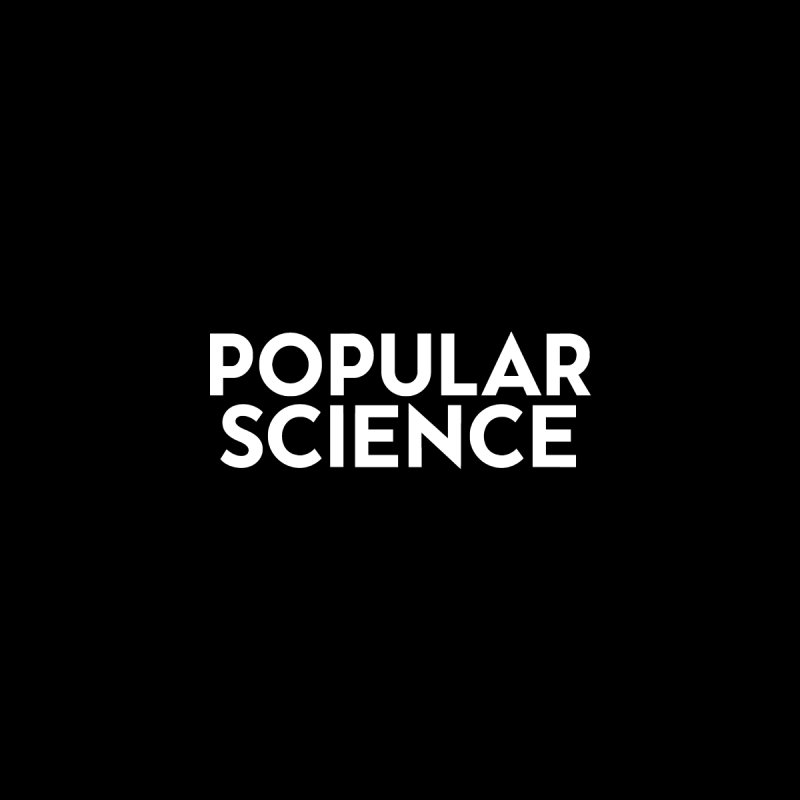 Popular Science Logo Sticker - White by Popular Science Shop