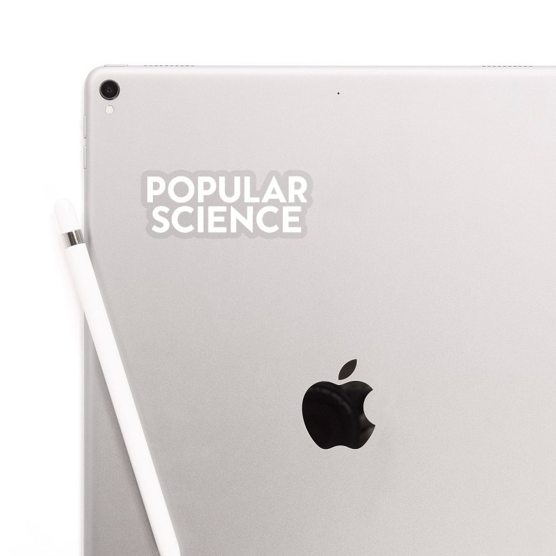 Popular Science Logo Sticker - White in Clear Sticker by Popular Science Shop