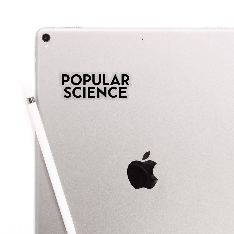 Popular Science Logo Sticker - Black Accessories Sticker by Popular Science Shop