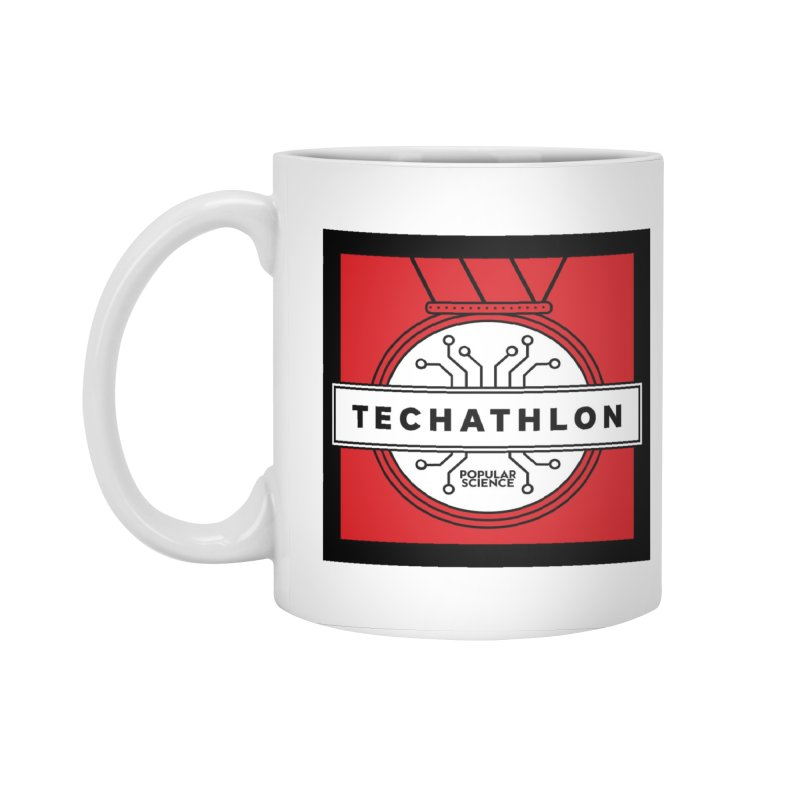 """Techathlon"" Logo Mug in Standard Mug White by Popular Science Shop"