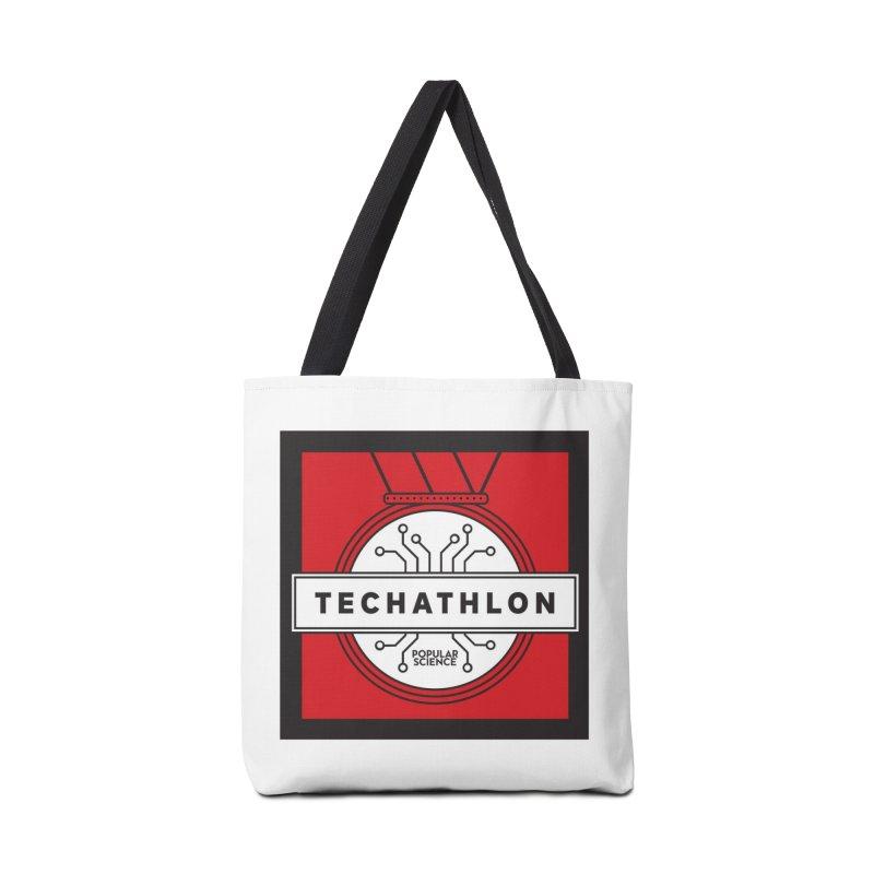"""""""Techathlon"""" Logo Tote Accessories Bag by Popular Science Shop"""
