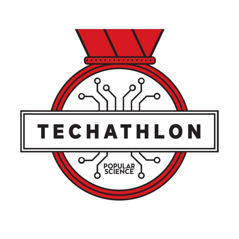 """Techathlon"" Logo Tee by Popular Science Shop"