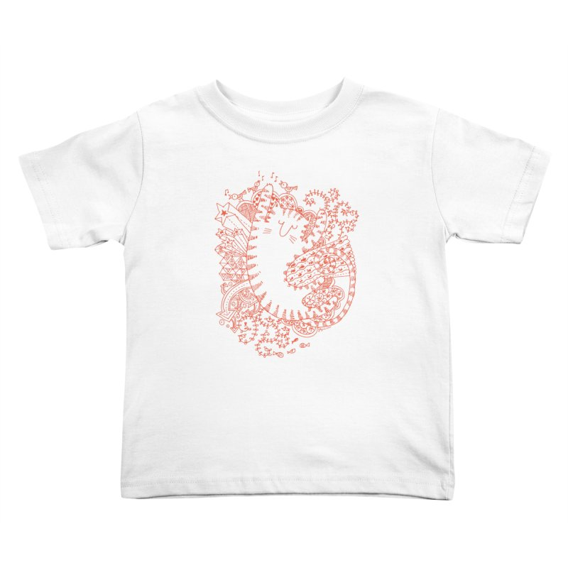 Dreaming Cat Kids Toddler T-Shirt by poptastictees's Artist Shop