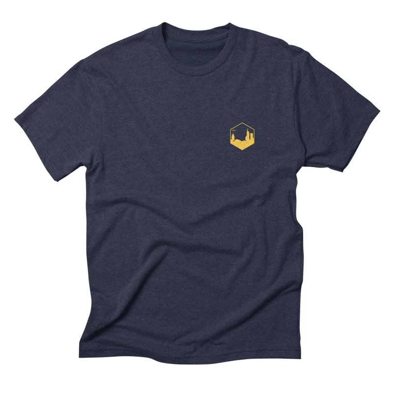 Hexagon Yellow Small Men's T-Shirt by The Porch