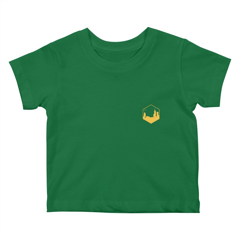 Hexagon Yellow Small Kids Baby T-Shirt by The Porch