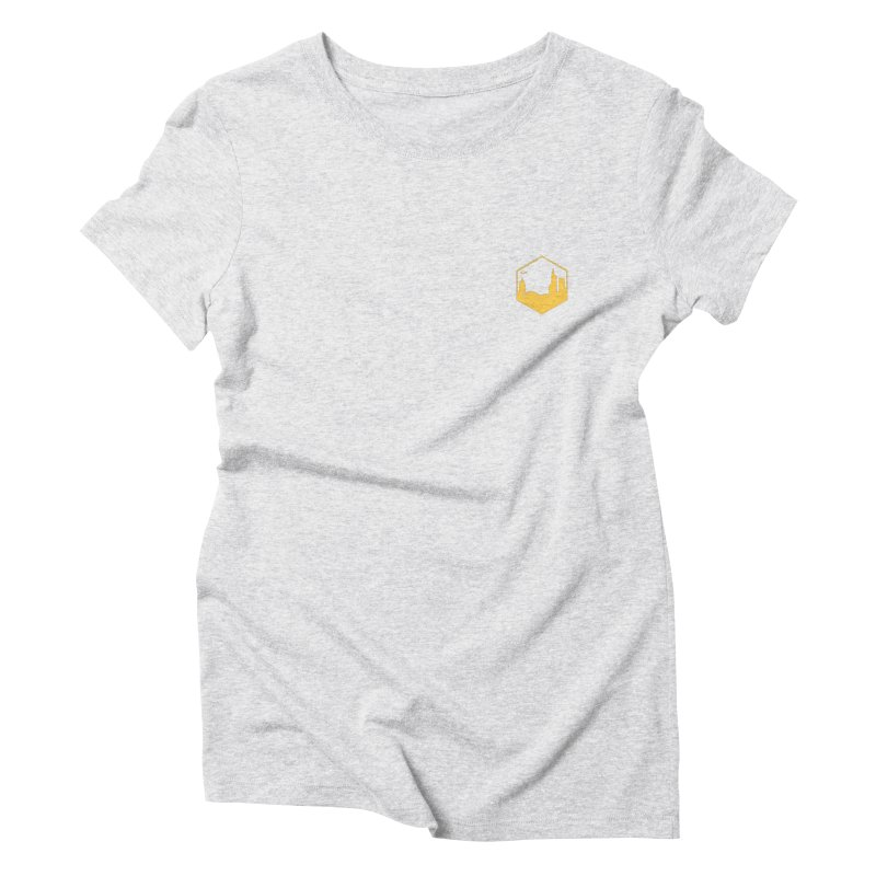 Hexagon Yellow Small Women's T-Shirt by The Porch
