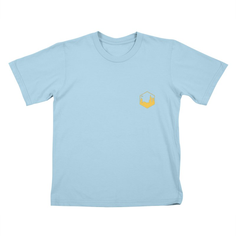 Hexagon Yellow Small Kids T-Shirt by The Porch