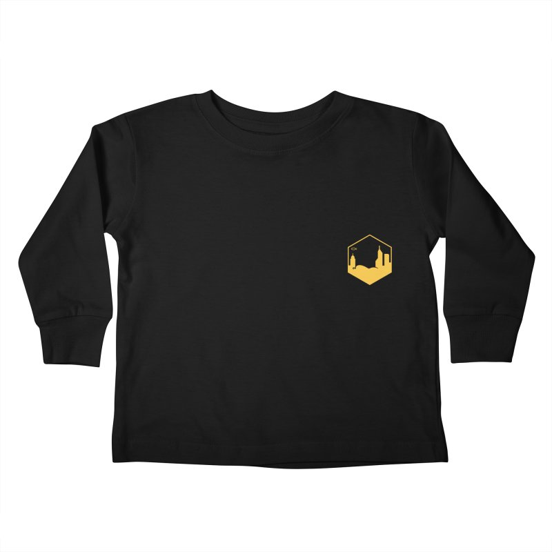 Hexagon Yellow Small Kids Toddler Longsleeve T-Shirt by The Porch
