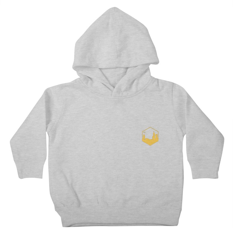 Hexagon Yellow Small Kids Toddler Pullover Hoody by The Porch