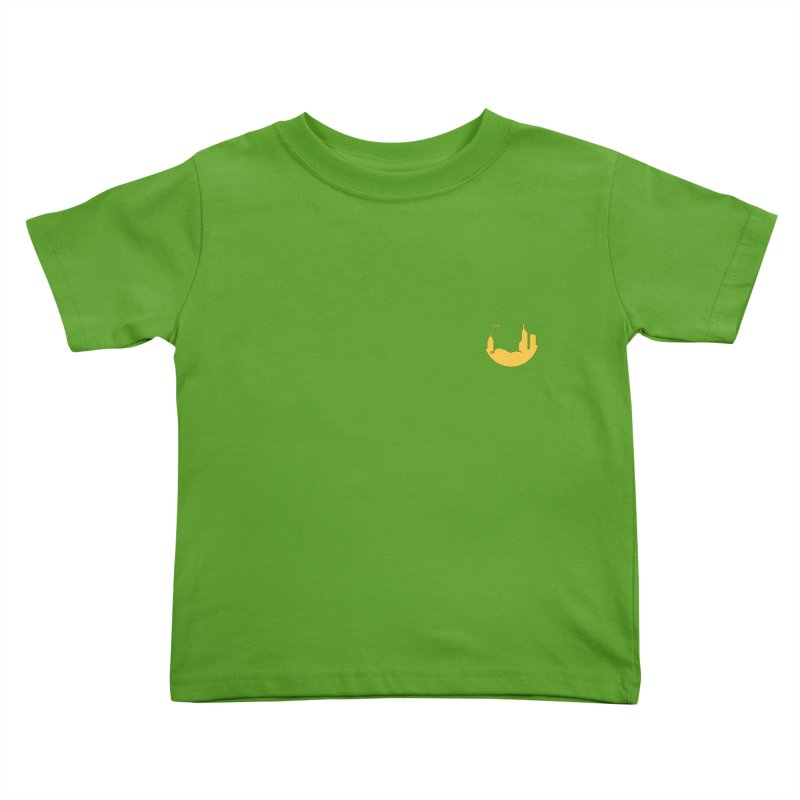 Round Yellow Small Kids Toddler T-Shirt by The Porch