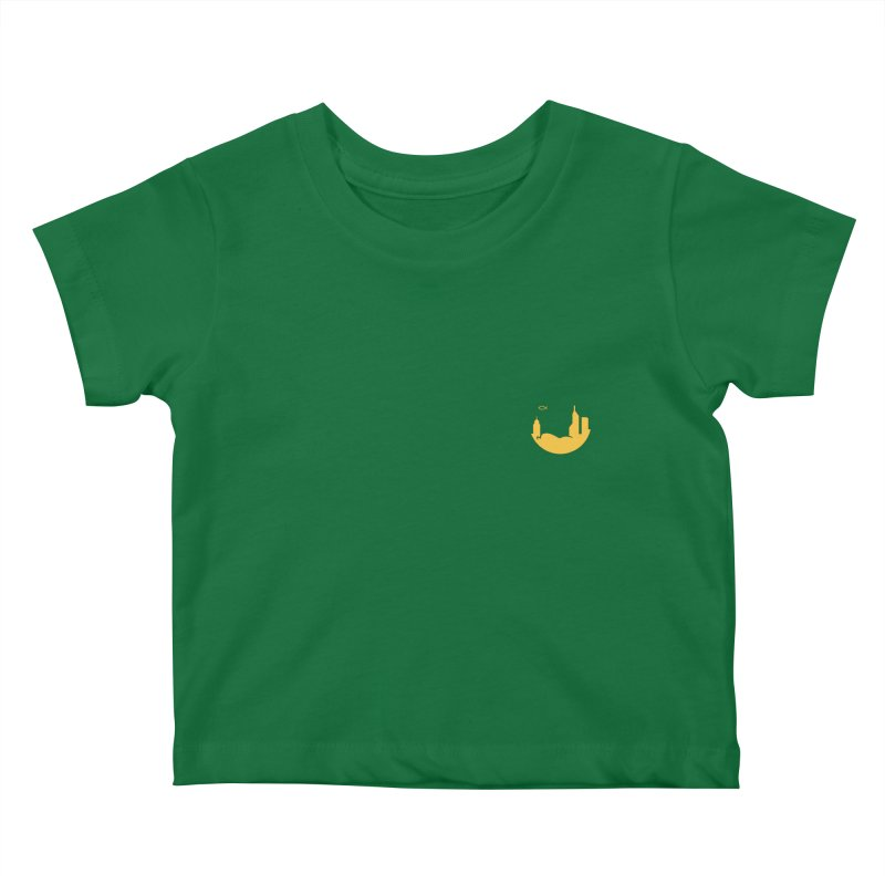 Round Yellow Small Kids Baby T-Shirt by The Porch
