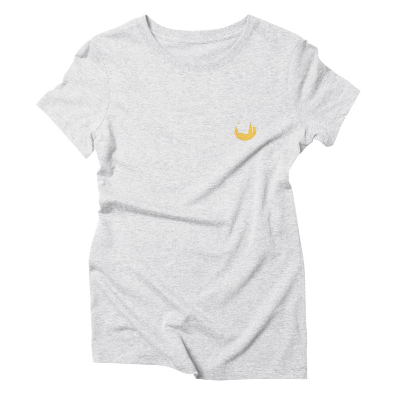 Round Yellow Small Women's T-Shirt by The Porch