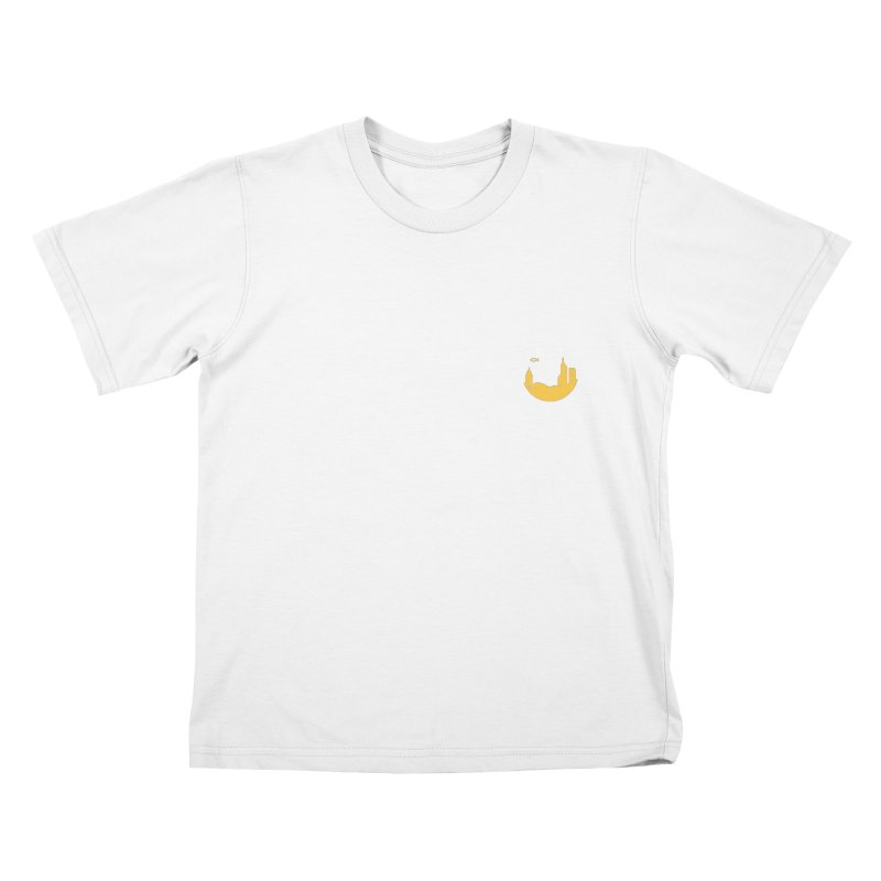 Round Yellow Small Kids T-Shirt by The Porch